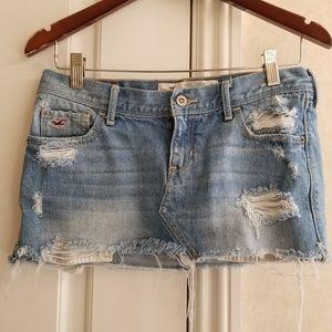 Hollister juniors jean shirt distressed mini